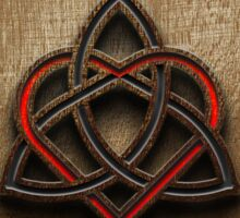 Celtic Knotwork Valentine Heart Wood Texture 1 Sticker