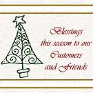 Christmas card for customers from business - Christmas tree by Cheryl Hall