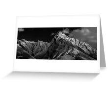 Maligne Lake mountains Greeting Card
