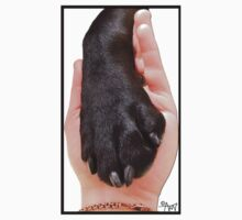 Black Dog Paw in Hand One Piece - Short Sleeve