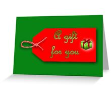 Christmas gift tag Greeting Card