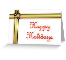 Happy holidays ribbon Greeting Card