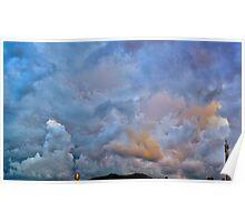 ©HCS Fresh Blue Clouds II Poster