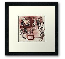 Rare Air-Michael Jordan Framed Print