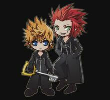 Roxas and Axel - Kingdom Hearts by StudioMarimo