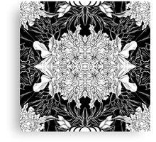 Flowers black&white Canvas Print