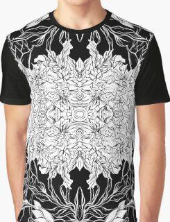 Flowers black&white Graphic T-Shirt