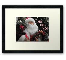 Ho Ho Ho Santa Framed Print