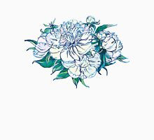 White peonies Womens Fitted T-Shirt