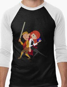 Kim & Ron Cosplay Amy & Rory Men's Baseball ¾ T-Shirt
