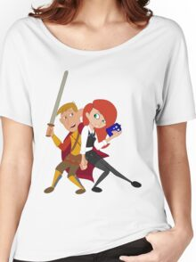 Kim & Ron Cosplay Amy & Rory Women's Relaxed Fit T-Shirt