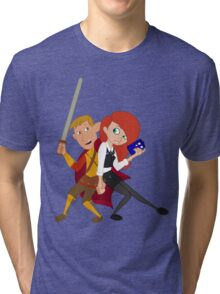 Kim & Ron Cosplay Amy & Rory Tri-blend T-Shirt