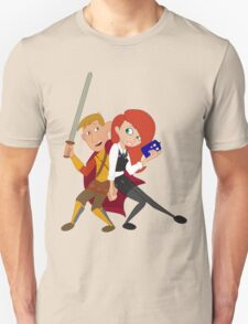 Kim & Ron Cosplay Amy & Rory Unisex T-Shirt