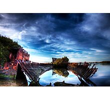 Port River Ship Wreck Photographic Print