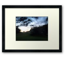 Morning drive-by Framed Print