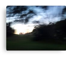 Morning drive-by Canvas Print