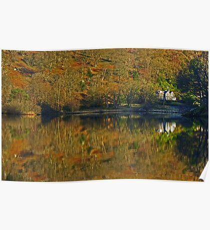 Rydal Water .. Russet Reflections Poster