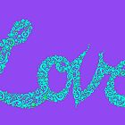 Love in Aqua and Mauve by KeLu