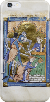 Medieval Illuminated Manuscript: Martyrdom of Saint Thomas Becket by SexyCodicology