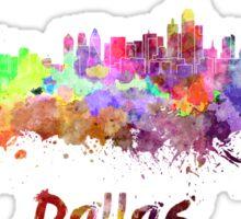 Dallas skyline in watercolor Sticker