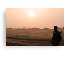 Morning poacher patrol Canvas Print