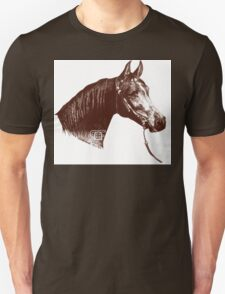 Red Frontier Arabian Horse Drawing 1985 T-Shirt