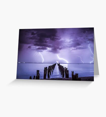 Mother Nature seeing December in, with a bang!  Clifton Springs, Victoria. Greeting Card