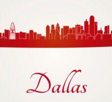 Dallas skyline in red Sticker