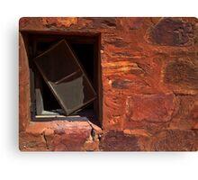 A Crooked Window at Tennant Creek Canvas Print