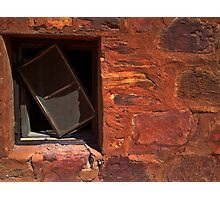 A Crooked Window at Tennant Creek Photographic Print