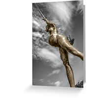 Verity in Bronze  Greeting Card