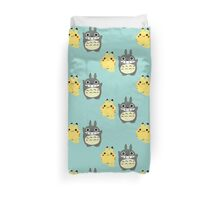 Totoro and pikachu Duvet Cover