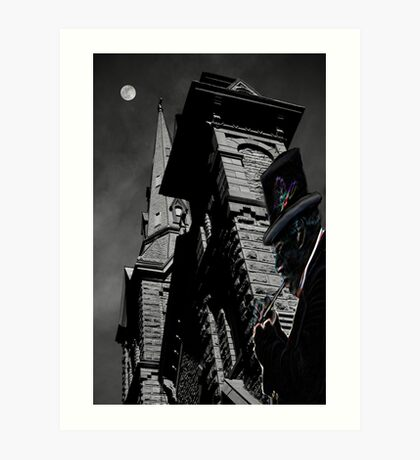 midnight appears at eleven Art Print