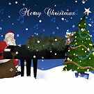 Santa Playing Piano by Moonlake