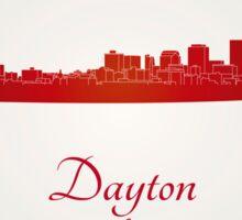Dayton skyline in red Sticker