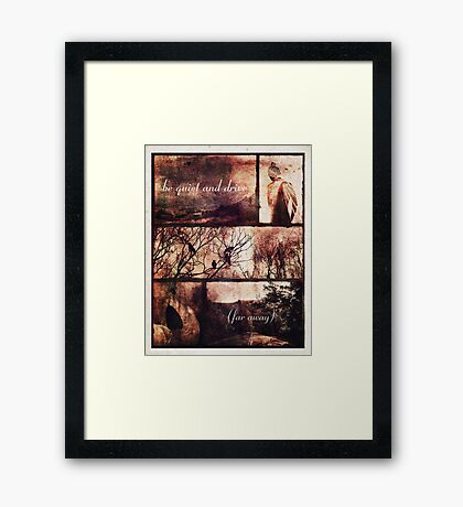 Be Quiet and Drive (Far Away) 2.0 Framed Print