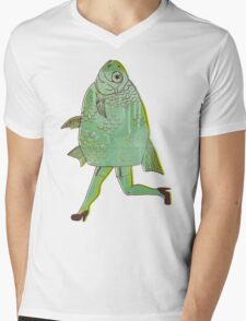 The Reverse Mermaid Mens V-Neck T-Shirt