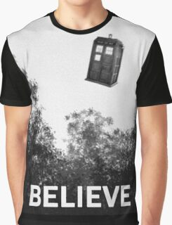 Believe - Police Box Graphic T-Shirt