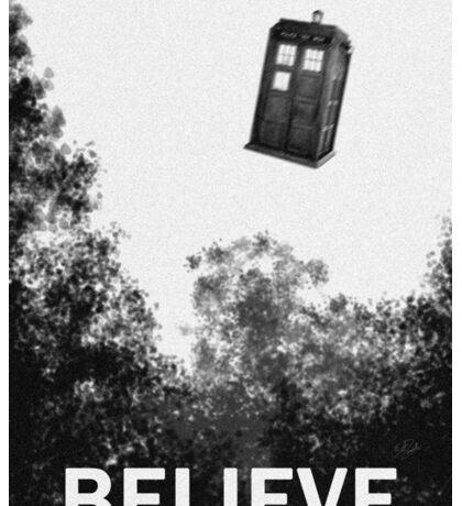 Believe - Police Box Sticker