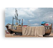 In shore fishing - hastings Canvas Print