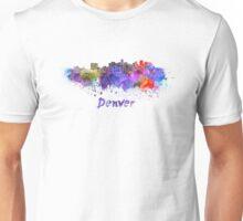 Denver skyline in watercolor Unisex T-Shirt