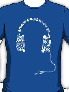 Headphones Collage T-Shirt