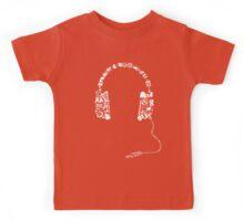 Headphones Collage Kids Tee