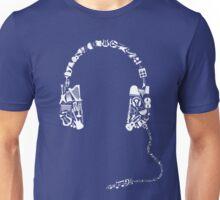 Headphones Collage Unisex T-Shirt
