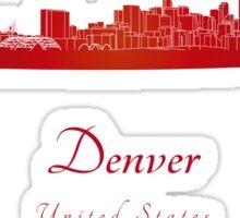 Denver skyline in red Sticker