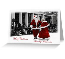 Merry Christmas from Papa And Grandma Greeting Card