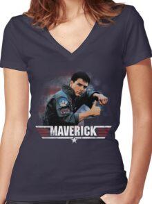Top Gun: Maverick Women's Fitted V-Neck T-Shirt