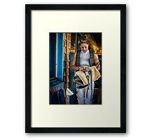 The Weigh In Framed Print