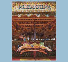 Pleasure - Seaside carousel Brighton UK Kids Tee
