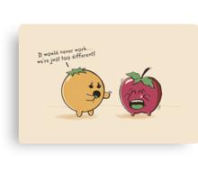 Apples & Oranges Canvas Print